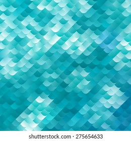 Blue and White Dynamic Background. Vector Mosaic Texture. Abstract Geometric Wallpaper