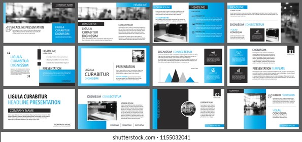 Blue and white element for slide infographic on background. Presentation template. Use for business annual report, flyer, corporate marketing, leaflet, advertising, brochure, modern style.