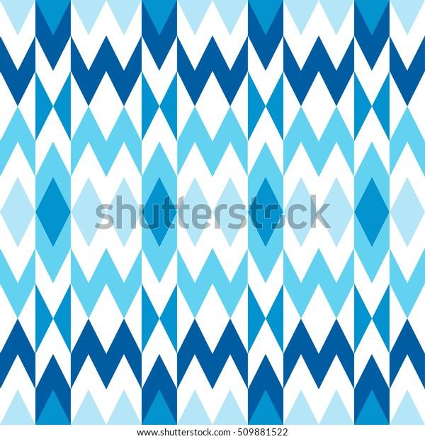 Blue White Geometric Shapes Vector Modern Stock Vector