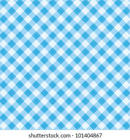 Blue and white gingham cloth background with fabric texture, plus seamless pattern included in swatch palette ( for high res JPEG or TIFF see image 101404864 )