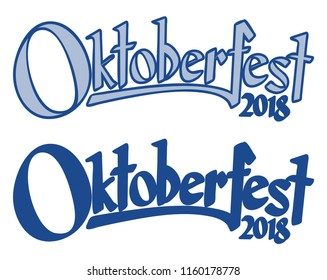 blue and white header with text Oktoberfest 2018