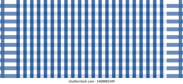 Blue and white loincloth vector and illustration.checkers table.Abstract background.