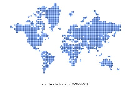 Abstract Map Of The World.World Map Vertical Lines Stock Vector Royalty Free 320397278