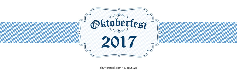blue and white Oktoberfest banner with text Oktoberfest 2017