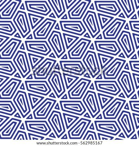 Blue And White Patternbackground Line Geometricmodern Stylish Texturevector