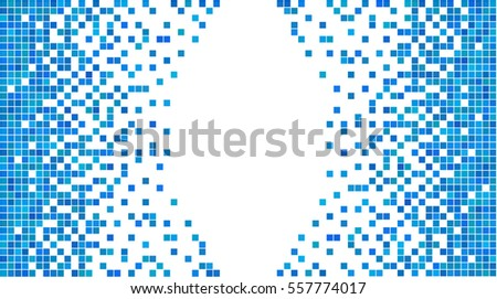 Blue White Pixel Background Abstract Digital Stock Vector Royalty