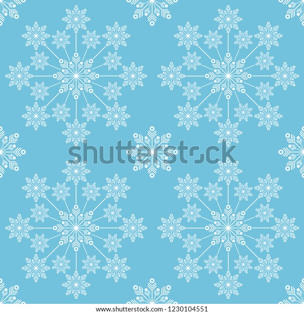 blue white snow flakes pattern 600w 1230104551