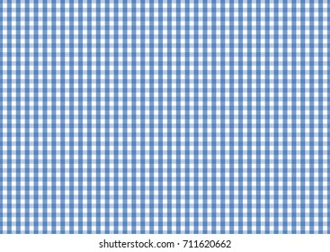 Blue and white tablecloth pattern, Texture from squares for - plaid, tablecloths, clothes, shirts, dresses, paper, blankets and other textile products. Vector illustration.