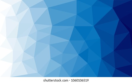 blue and white water ocean sky abstract geometric rumpled triangle geometry low poly style vector