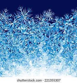 Blue winter background. Eps8. CMYK. Global colors. Gradients free.