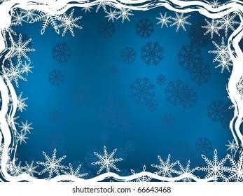 blue winter background. Holiday image