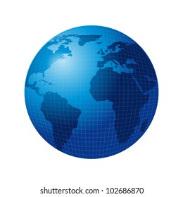 blue world isolated over white background. vector illustration