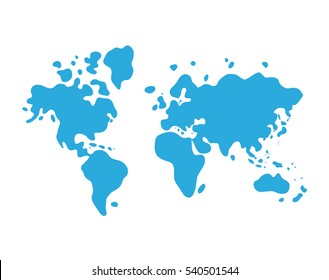 World map globe flat icon western vector de stock795297583 shutterstock blue world map cartoon icon gumiabroncs Images