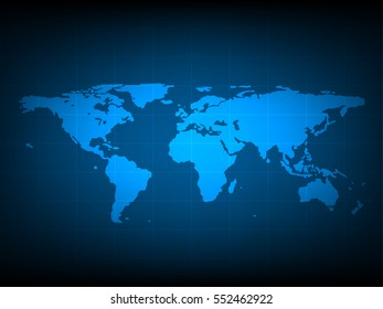 Modern blue world map wallpaper dark stock illustration 93530626 blue world map digital technology background futuristic structure elements concept background design gumiabroncs Choice Image
