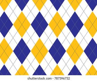 Blue and Yellow Argyle Background