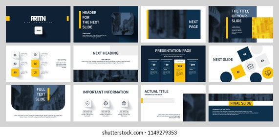 Blue and Yellow elements on a white background. This template is the best as a business presentation, used in marketing and advertising, the annual report, flyer and banner