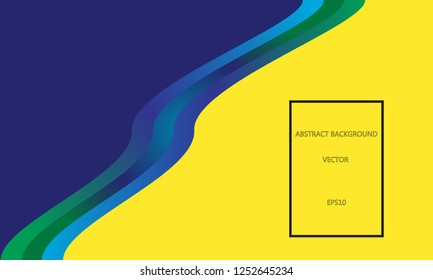 Blue and yellow fluid background with space for text