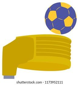 blue and yellow korfball vector