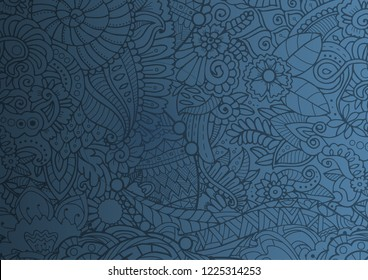 Blue zendoodle abstract texture