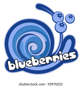 Blueberries label. Background for design of packing. Vector illustration.