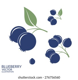 Blueberry. Blue berries on white background