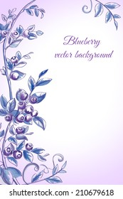 Blueberry vector background