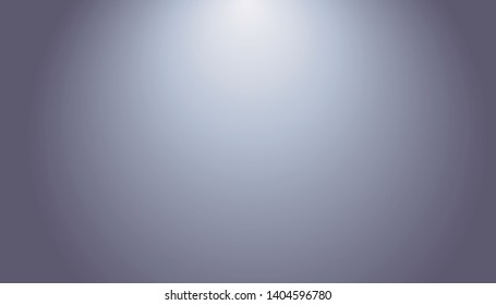 Blue-gray gradient abstract background. Blurred smooth gray color, bright light effect holographic, silver graphic soft design wallpaper, vector illustration