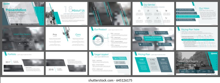 Blue-green and gray elements of infographics on a white background. Use in presentation templates, flyer and leaflet, corporate report, marketing, advertising, annual report and banner.