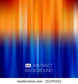 Blue-Orange Abstract Striped Background. Vector Illustration.