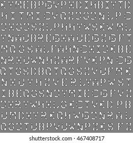 Blueprint architectural font grey seamless pattern for background