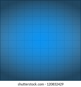 Blueprint background with vignetting, vector eps10 illustration