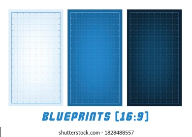 Blueprint Backgrounds. Blueprint Lined Architecture Pattern. Technical Drawing Grid