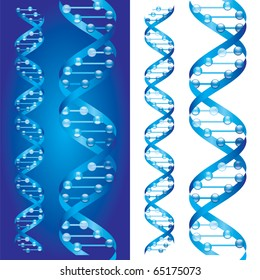 Blueprint D.N.A. chains on blue and white background
