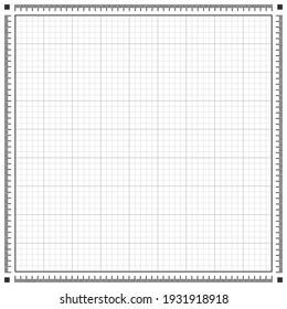 Blueprint horizontal background texture. Black and white vector illustration
