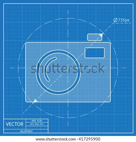 Blueprint Icon Camera Stock Vector (Royalty Free) 417295900 ...