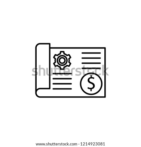 Blueprint Icon Element Robotics Engineering Mobile Stock Vector