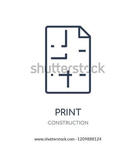 Blueprint Icon Blueprint Linear Symbol Design Stock Vector Royalty