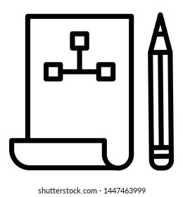Blueprint Isolated Vector Icon which can easily modify