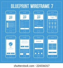 Register screen images stock photos vectors shutterstock blueprint mobile app wireframe ui kit 7 welcome screen sign in screen sign malvernweather Images