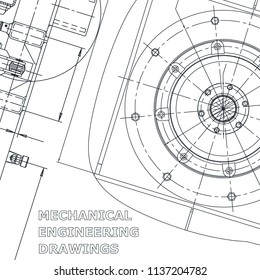 Blueprint, Sketch. Vector engineering illustration. Corporate Identity. Cover