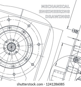 Blueprint, Sketch. Vector engineering illustration. Corporate Identity. Cover, flyer, banner, background