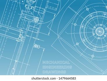 Blueprint, Sketch. Vector engineering illustration