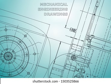 Blueprint, Sketch. Vector engineering illustration