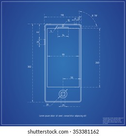 Blueprint smartphone.