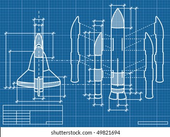 blueprint of the spaceship