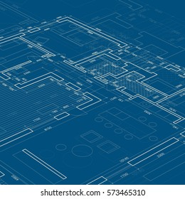 Building blueprint images stock photos vectors shutterstock blueprint vector architectural drawing background malvernweather Choice Image