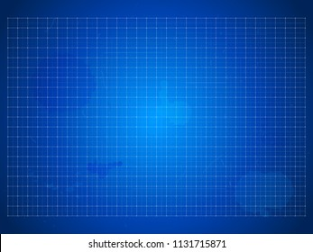 blueprint - vector background with grids, scratches and blots for industrial drawings, outline and concept designs in architecture, industry or business