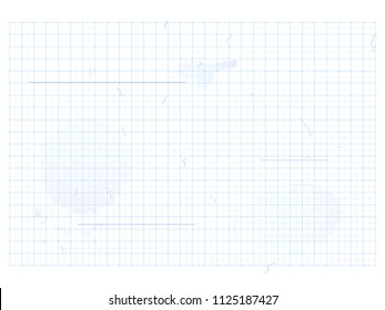 blueprint - vector blue background with grids, scratches and blots for industrial drawings, outline and concept designs in architecture, industry or business