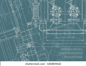 Blueprint. Vector illustration. Computer aided design system. Corporate Identity