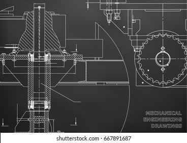 Engineering drawing images stock photos vectors shutterstock blueprints mechanical engineering drawings cover banner technical design black malvernweather Images